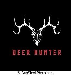 deer skull vector design template