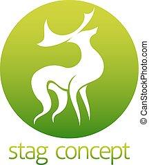 Deer stag circle design