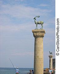 Deer, Symbol of Rhodes