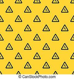 Deer traffic warning sign pattern vector