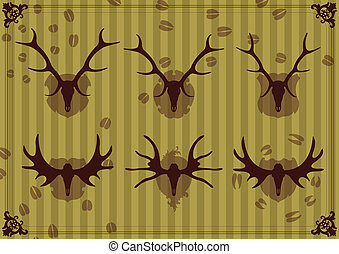 Deer vector background