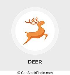 Deer vector flat icon