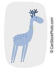 Deer vector illustration cartoon
