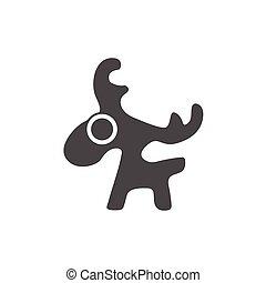 deer vector , logo graphic design
