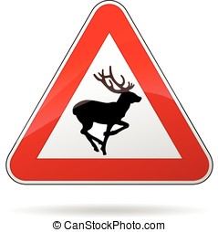 deer warning sign