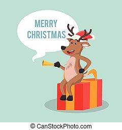 deer with callout merry christmas