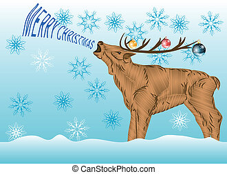 Deer with Christmas wishes