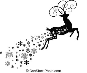 DEER WITH SNOWFLAKE