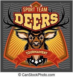 deers, -, deporte, mascota, equipo