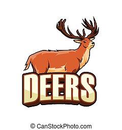 deers illustration design colorful