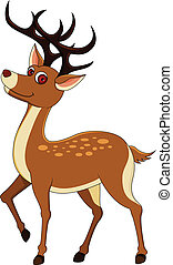 deers isolated on white background - vector illustration...
