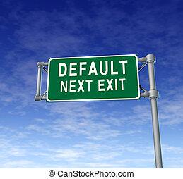 default, 危險標誌