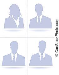 A collection set of default avatar profile picture