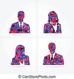 Default avatar colorful splash vector illustration