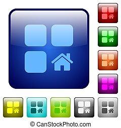 Default component color square buttons