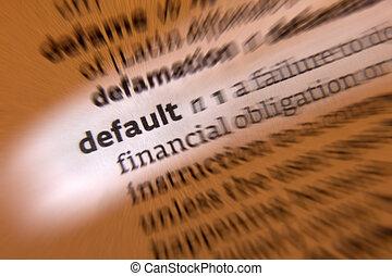 Default - Dictionary Definition