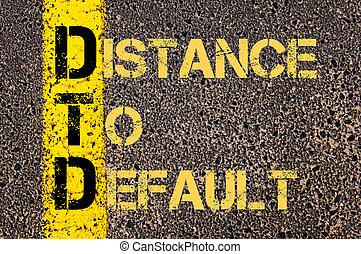 default, distance, acronyme, business, dtd
