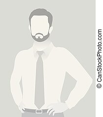 Default placeholder businessman half-length portrait photo...