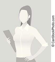 Default placeholder businesswoman half-length portrait photo...