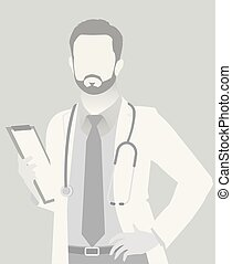 Default placeholder doctor half-length portrait photo...
