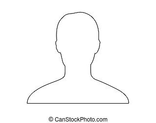 Default Profile avatar silhouette vector in black and white.