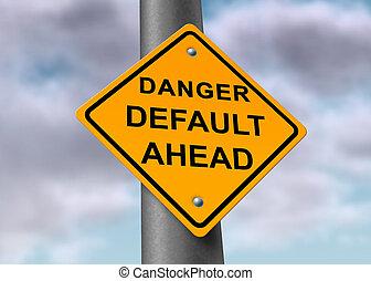 default, sinal perigo
