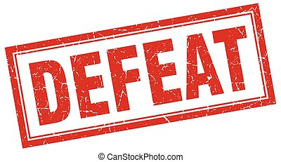 defeat square stamp