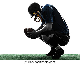 defeated american football player man silhouette - one...