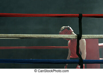 Defeated boxer - Defated boxer after a boxing match