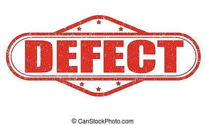 Defect grunge stamp