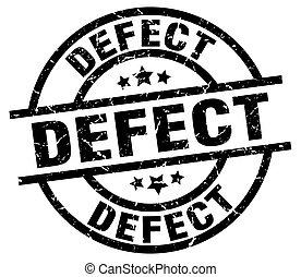 defect round grunge black stamp