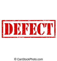 Defect-stamp - Grunge rubber stamp with text Defect,vector...