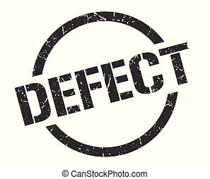 defect black round stamp