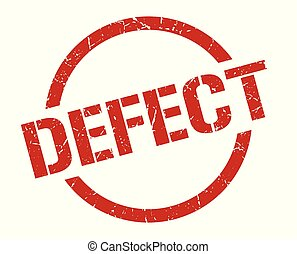 defect red round stamp
