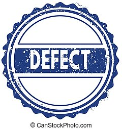 DEFECT stamp. sticker. seal. blue round grunge vintage ribbon sign