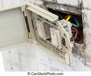 defective electrical wall fixture.Danger of Use