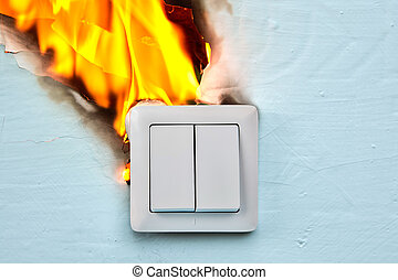 Defective outlet is cause of electrical fire.