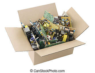 defective printed circuit boards in box