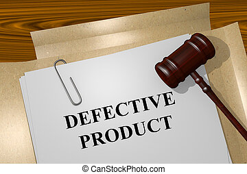 Defective Product concept - Render illustration of Defective...