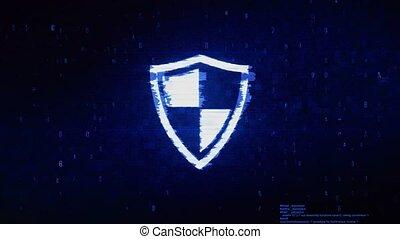 Defence, guard, protect, safety, shield Symbol Digital Pixel...