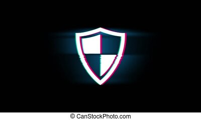 Defence, guard, protect, safety, shield Symbol on Glitch...