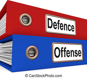 Defence Offense Folders Mean Protect And Attack - Defence ...