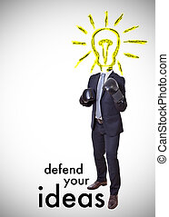 defend your ideas with boxing gloves