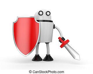 Defender - 3D robot ready to battle