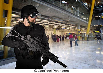 Defending the airports from terrorist attacks
