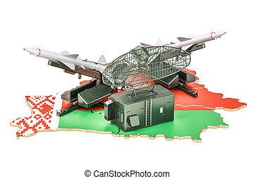 defensa, concepto, sistema, belarusian, misil, interpretación, 3d