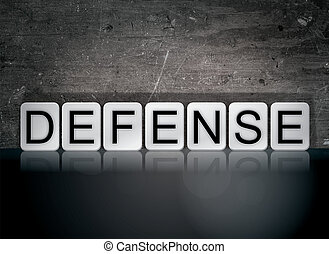 Defense Concept Tiled Word
