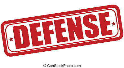 Defense - Stamp with word defense inside, vector...