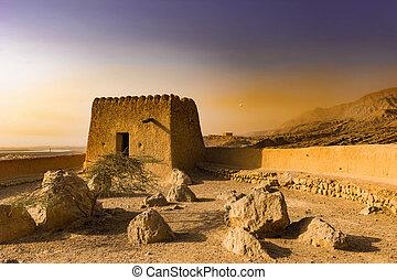 Defensive Fortress in the Desert. Ras Al Khaimah
