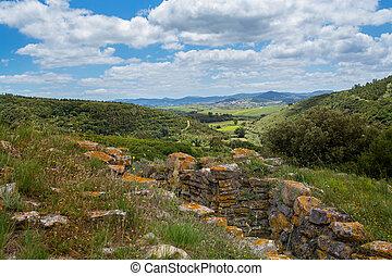 defensive line in Torres Vedras Portugal.